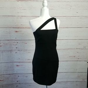 TORN // one shoulder cut out bodycon dress